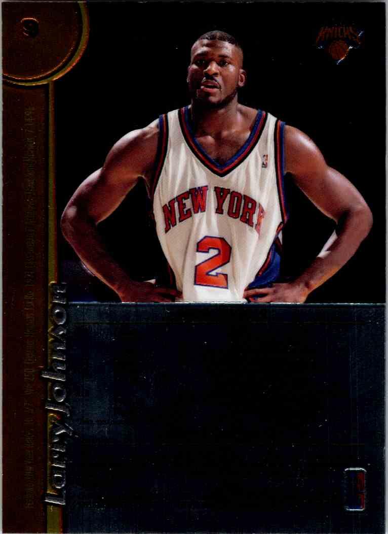 1998-99 Topps Finest Larry Johnson #9 card back image