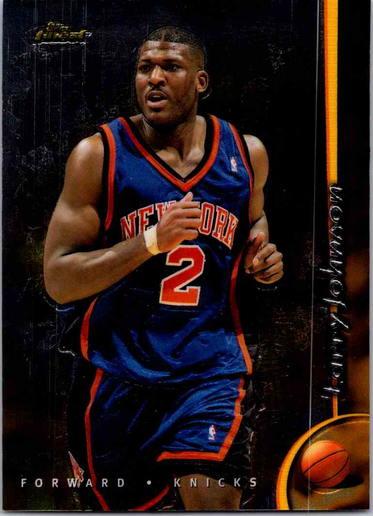 1998-99 Topps Finest Larry Johnson #9 card front image