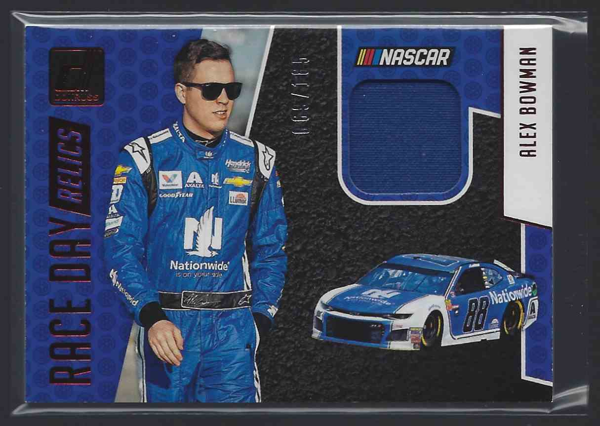 2019 Donruss Race Day Relics Red Justin Allgaier #RDAB card front image