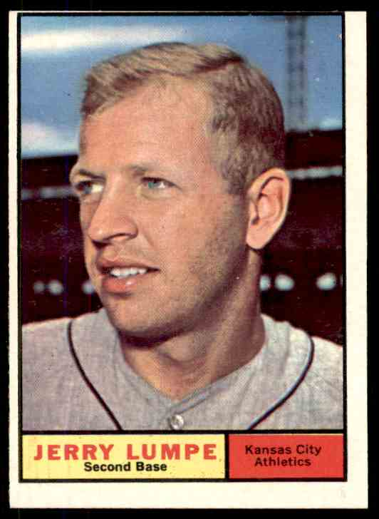1961 Topps Jerry Lumpe #365 card front image