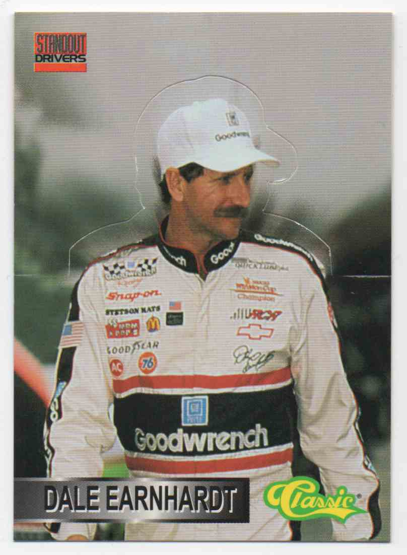 1995 Classic Finish Line Standout Drivers Dale Earnhardt #1 card front image