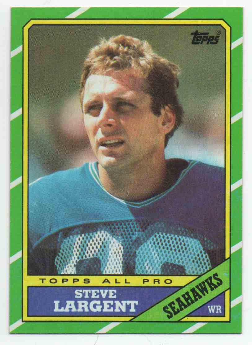 1986 Topps Steve Largent #203 card front image