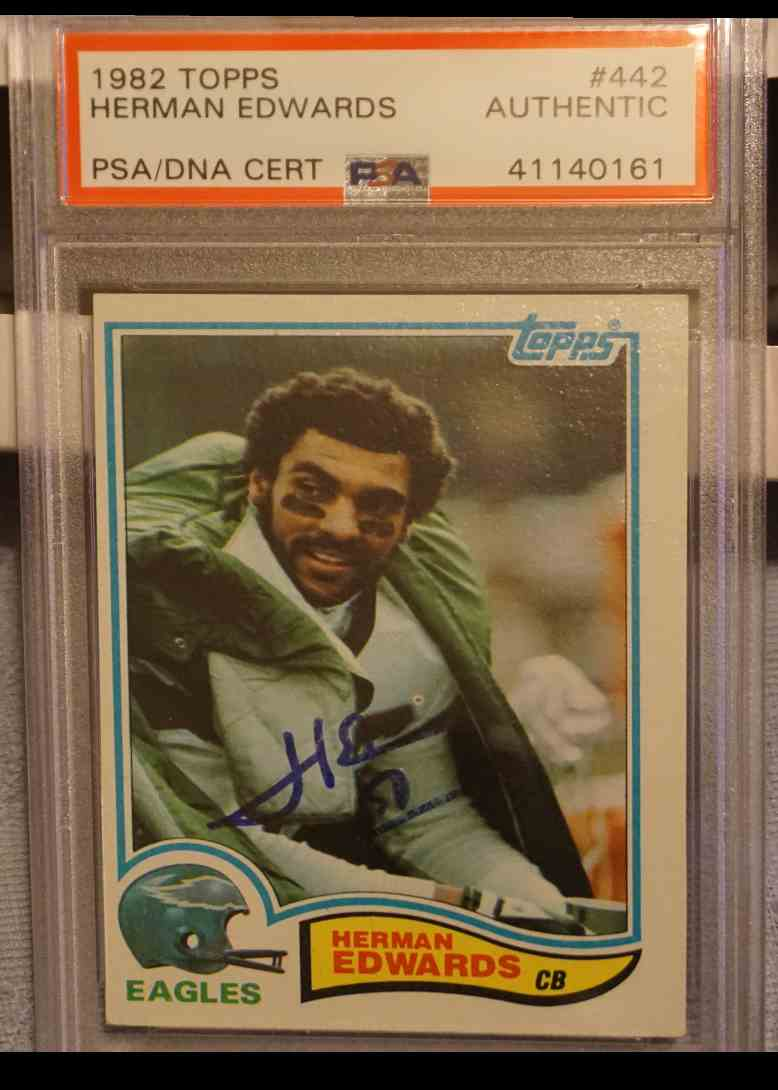 1982 Topps PSA DNA Herman Edwards card front image
