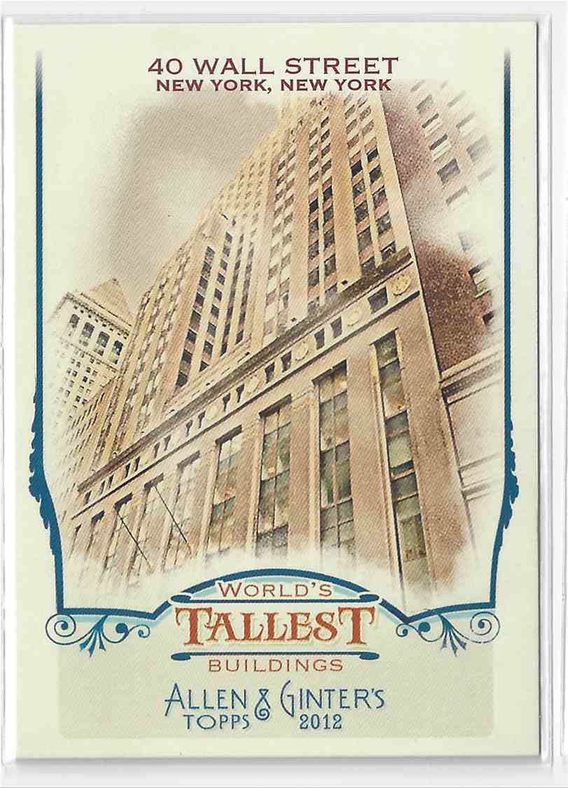 2012 Topps Allen & Ginter 40 Wall Street #WTB8 card front image