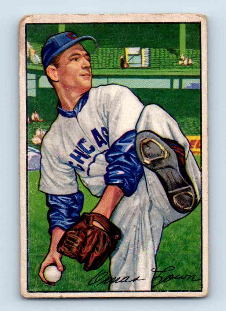 1952 Bowman Omar Lown #16 card front image