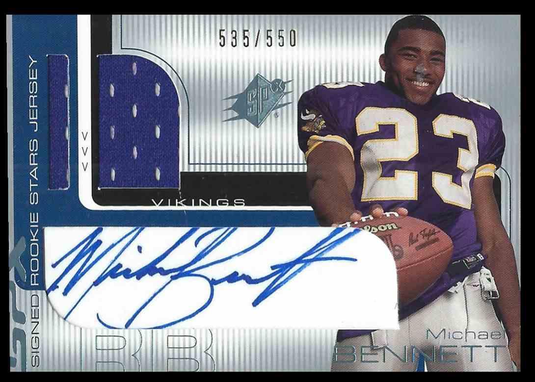 2001 SPx Michael Bennett #96 card front image