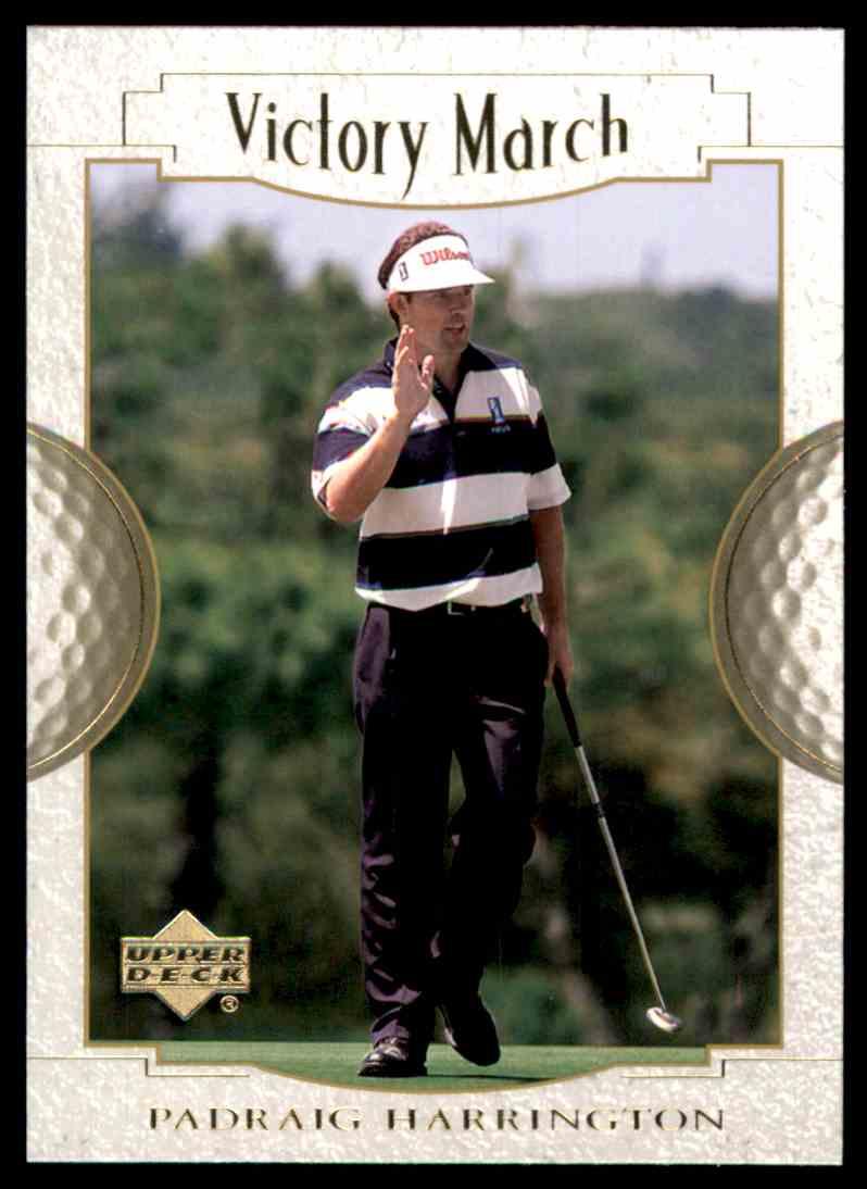 2001 Upper Deck Padraig Harrington VM #159 card front image
