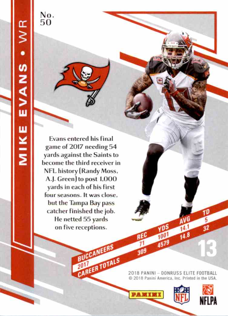 Fan Apparel & Souvenirs Football-NFL JERSEY MIKE EVANS art print/poster TAMPA BAY BUCCANEERS FREE S&H