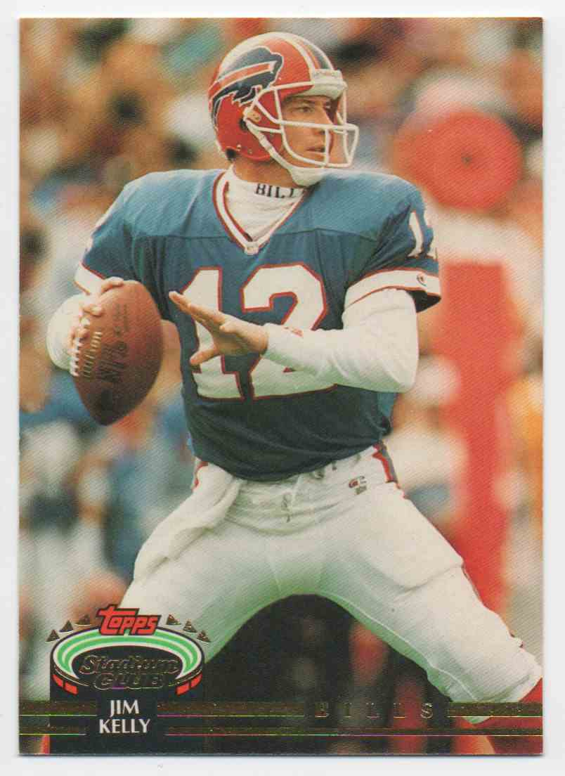 1992 Stadium Club Jim Kelly #640 card front image
