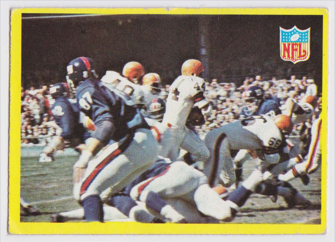 1967 Pcgc Browns Vs Giants #193 card front image