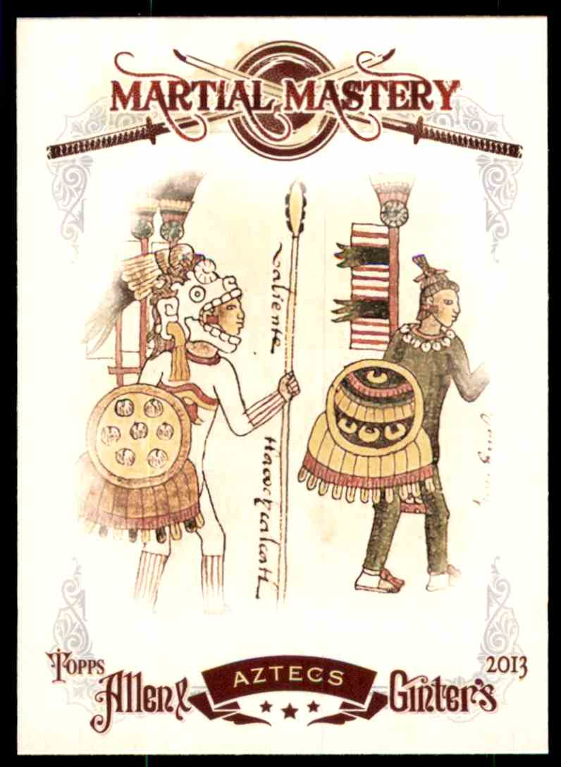 2013 Topps Allen And Ginter Martial Mastery Aztecs #AZ card front image