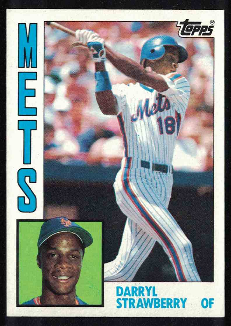1984 Topps Darryl Strawberry NM-MT #182 card front image