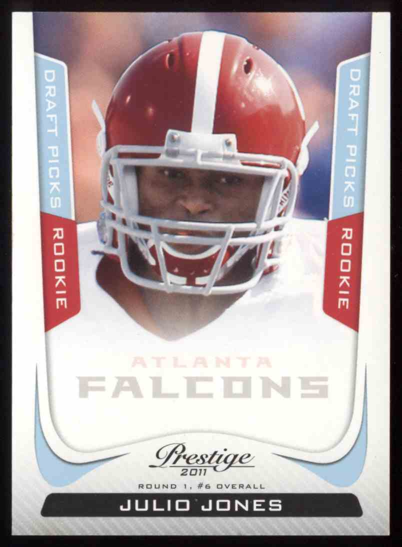 2011 Panini Prestige Draft Picks Light Blue Julio Jones #256 card front image