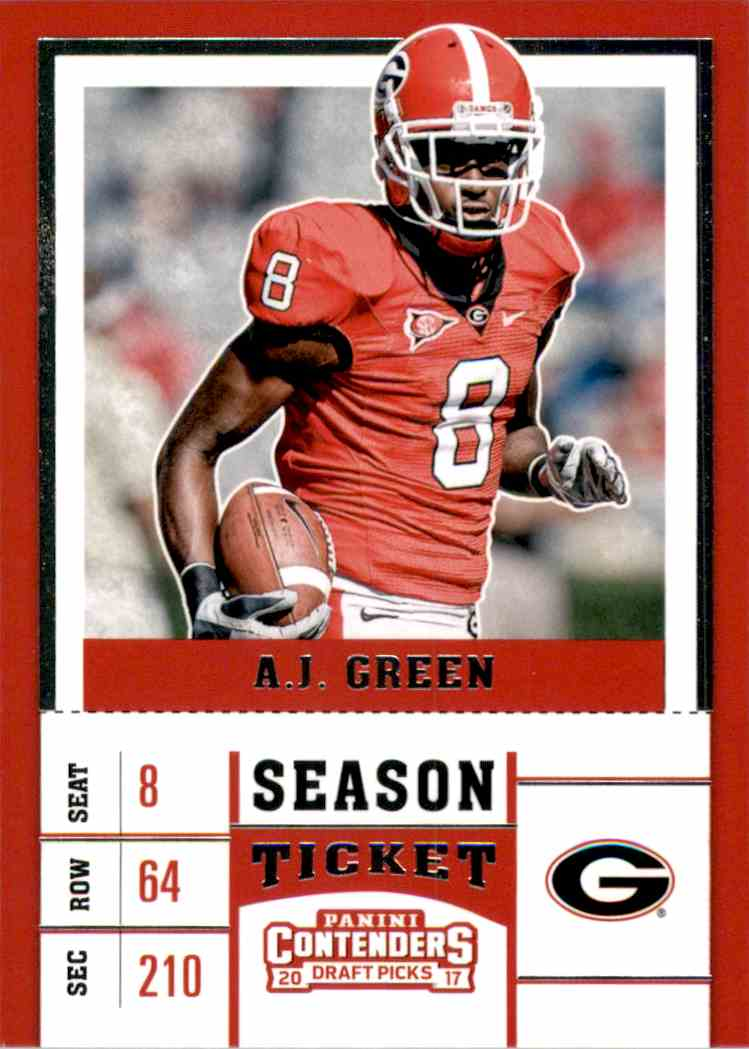2017 Panini Contenders Draft Picks A.J. Green #1 card front image