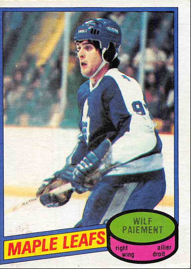 1980-81 O-Pee-Chee Wilf Paiement #225 card front image