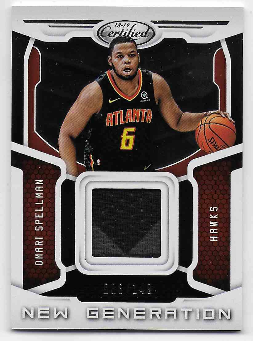 2018-19 Panini Certified New Generation Jerseys Omari Spellman #30 card front image