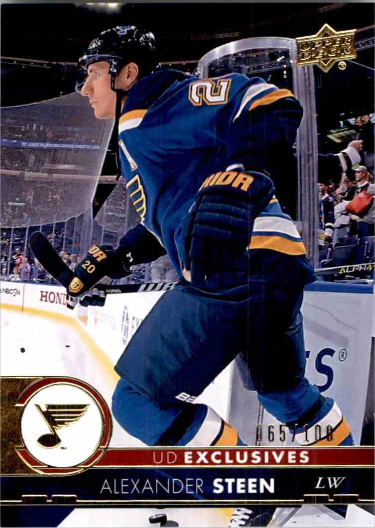 2017-18 Upper Deck Exclusives Alexander Steen #407 card front image