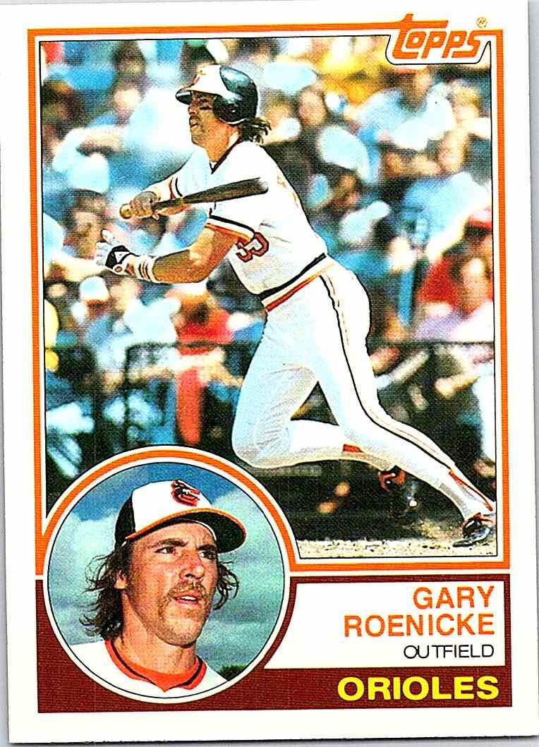 1983 Topps Gary Roenicke 605 On Kronozio