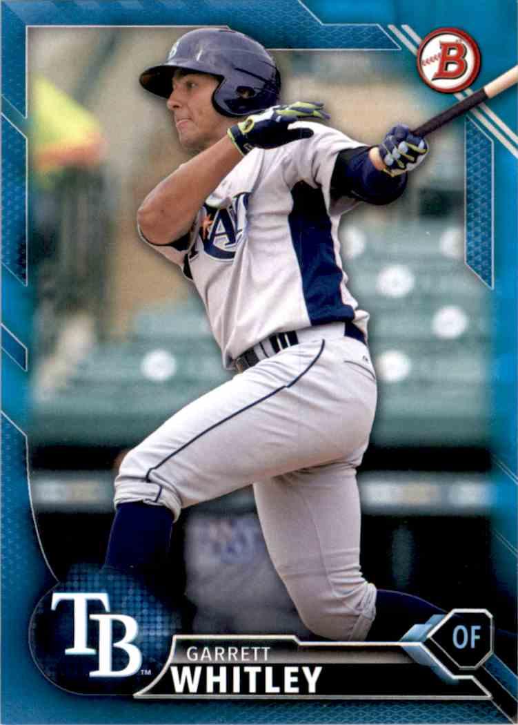 2016 Bowman Prospects Blue Garrett Whitley #BP68 card front image