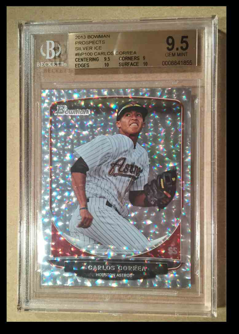 2013 Bowman Silver Ice Prospects BGS 9.5 Carlos Correa card front image