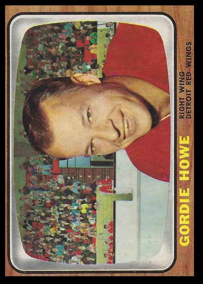 1966-67 Topps Gordie Howe #109 card front image