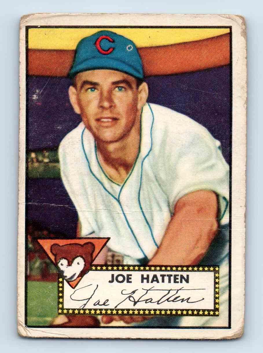 1952 Topps Joe Hatten #194 card front image