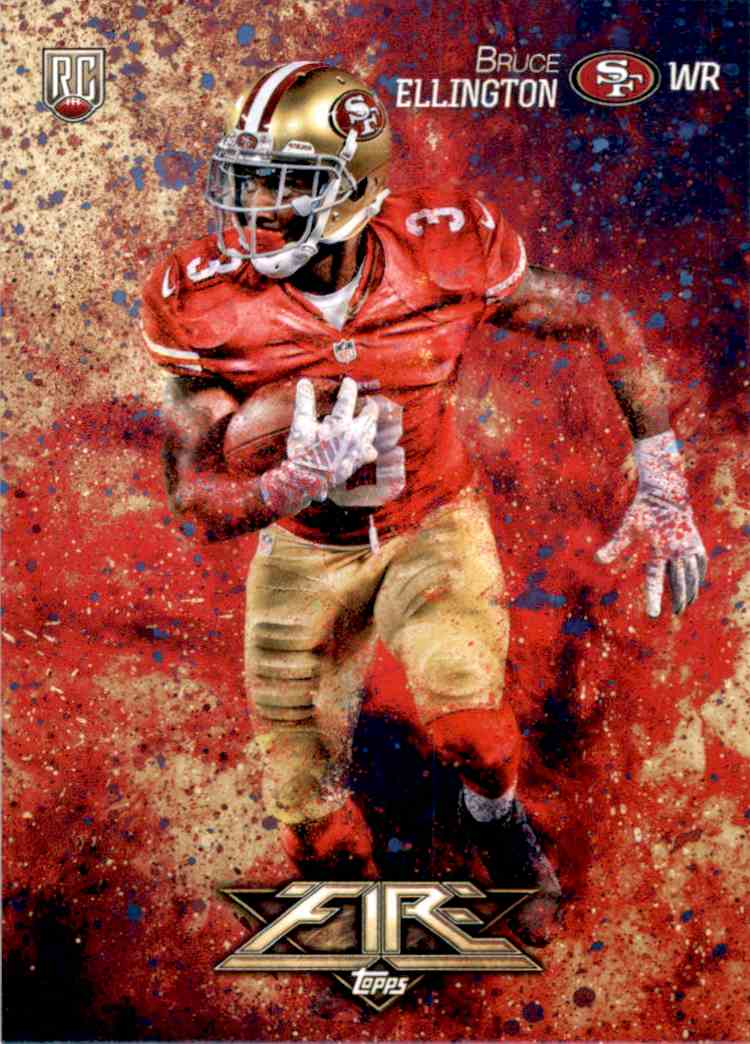 2014 Topps Fire Bruce Ellington RC #120 card front image