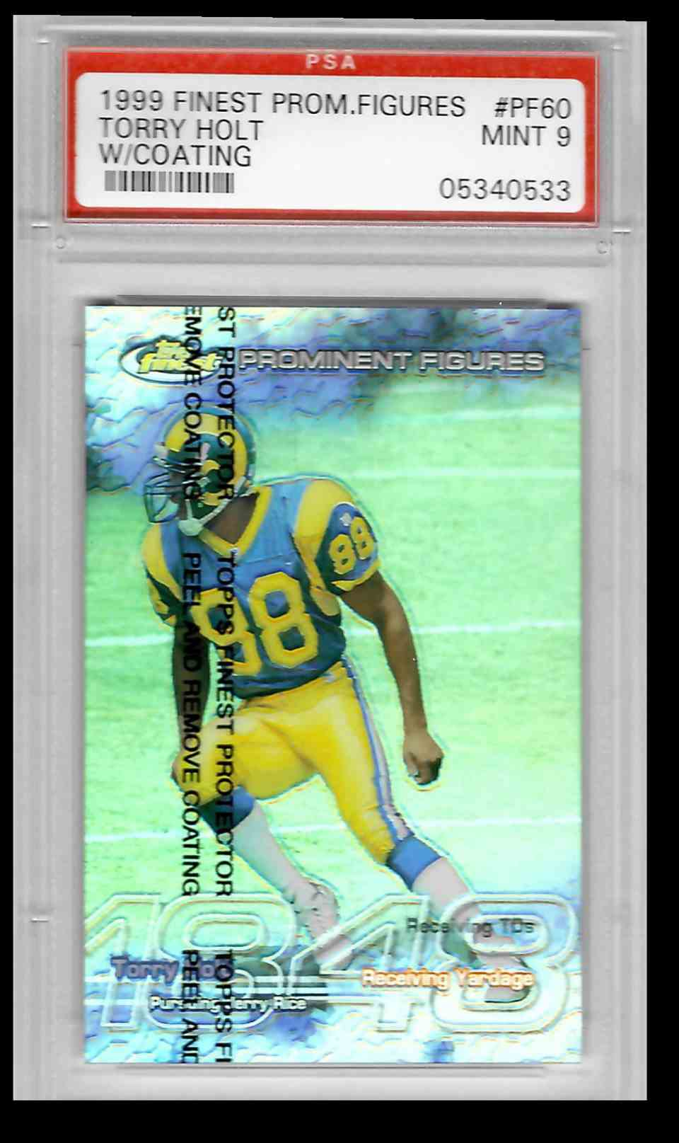 1999 Topps Finest Torry Holt #PF60 card front image
