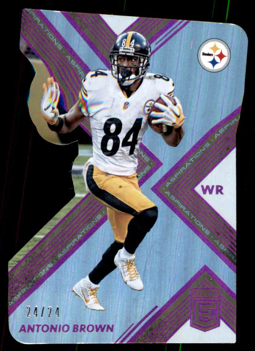 outlet store 7f33f 1fcd9 2017 Panini Certified Aspirations Pink Antonio Brown on ...