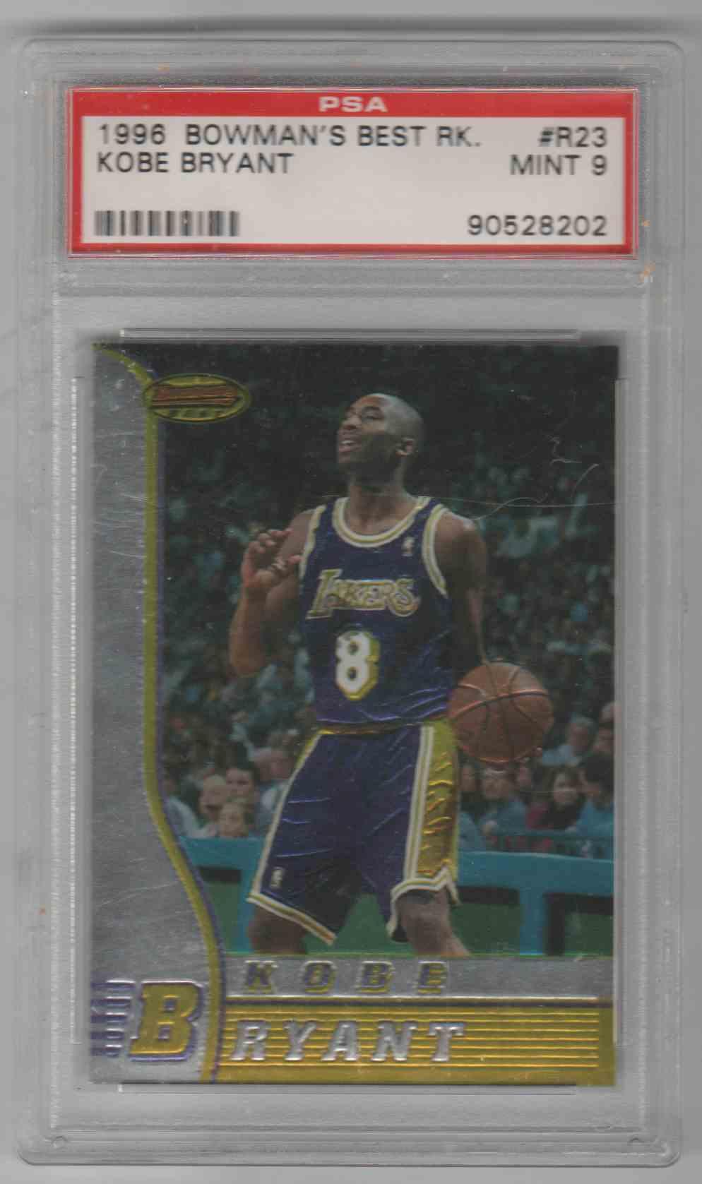 1996-97 Bowman Best Kobe Bryant #R23 card front image