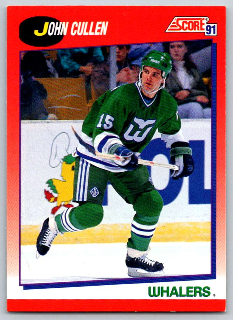 1991-92 Score Canadian Bilingual John Cullen #7 card front image