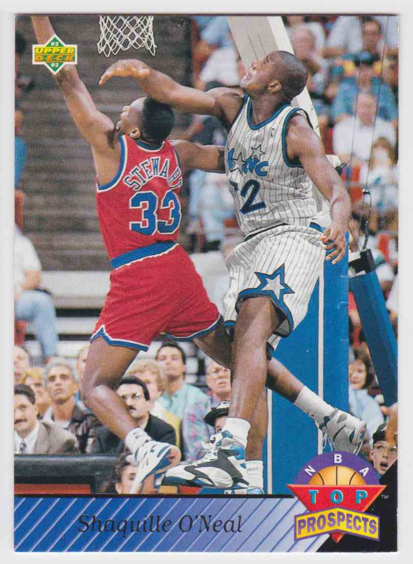 1992 93 UD NBA Top Prospects LSU Shaquille Oneal 474 Card Front