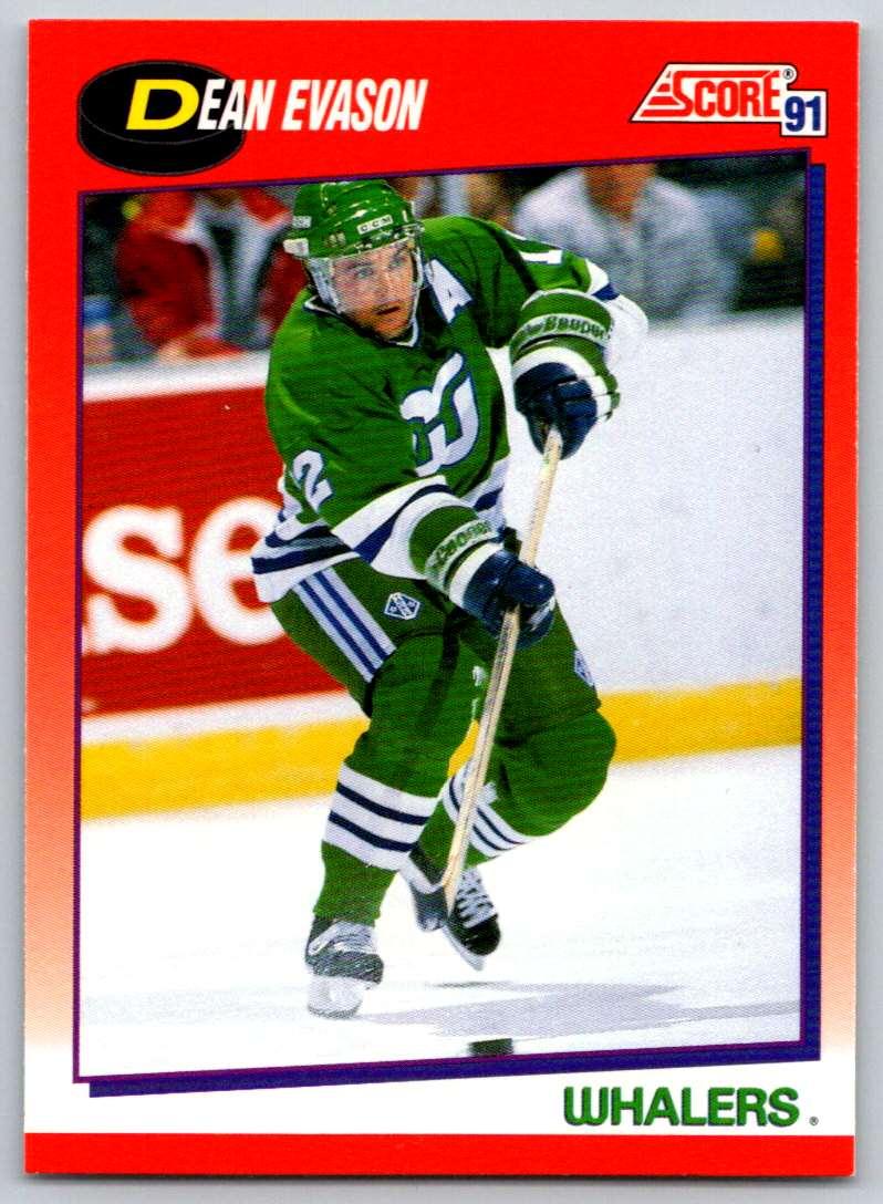 1991-92 Score Canadian Bilingual Dean Evason #17 card front image