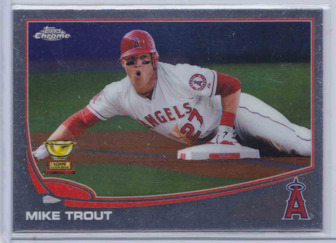 2017 Topps Chrome All Rookie Cup Mike Trout B On Kronozio