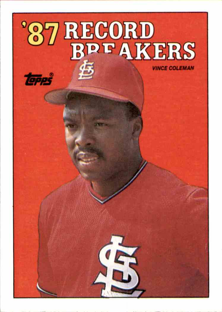 1988 Topps Vince Coleman Rb #1 card front image