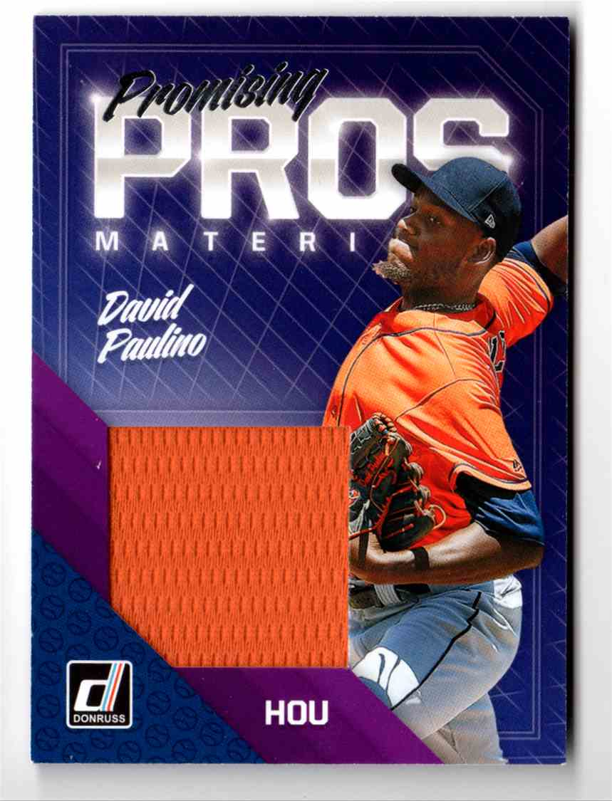 2018 Donruss Promising Pros Materials David Paulino #PPM-DP card front image