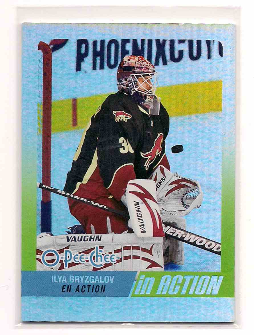 2010-11 O-Pee-Chee In Action Ilya Bryzgalov #IA-8 card front image