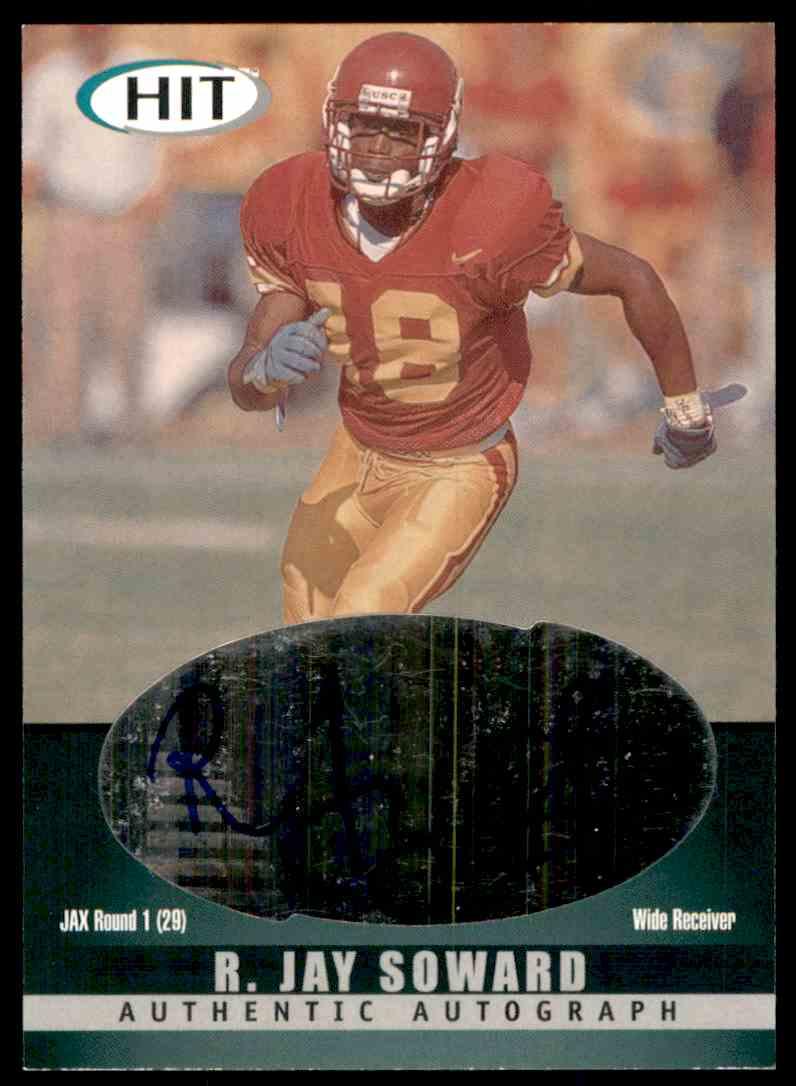 2000 Sage Hit Autographs Emerald R.Jay Soward #A18 card front image