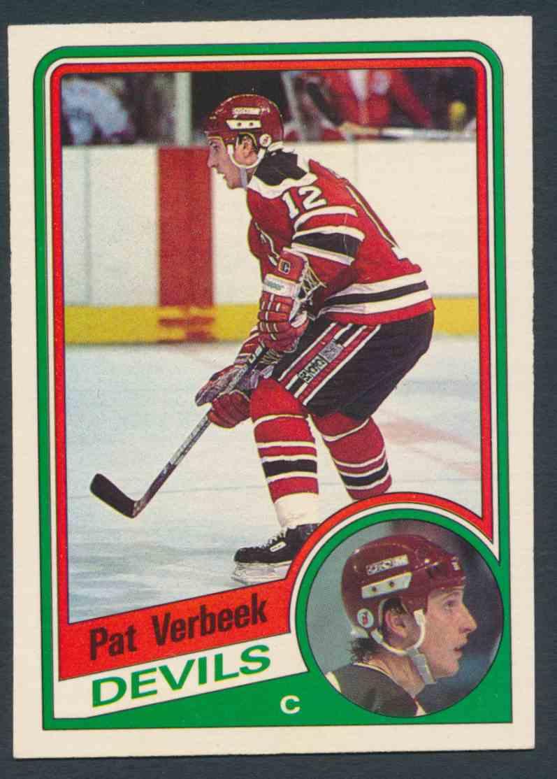 1984-85 O-Pee-Chee Pat Verbeek #121 card front image