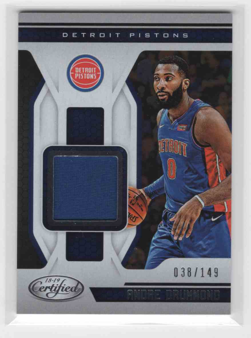 2018-19 Panini Certified Andre Drummond #MT-ADR card front image