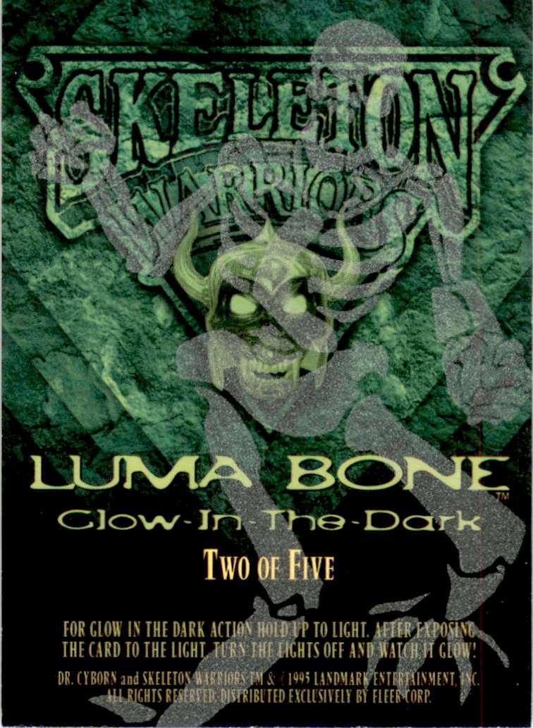 1995 Skeleton Warriors Ultra Luma Bone Dr. Cyborn #2 card back image