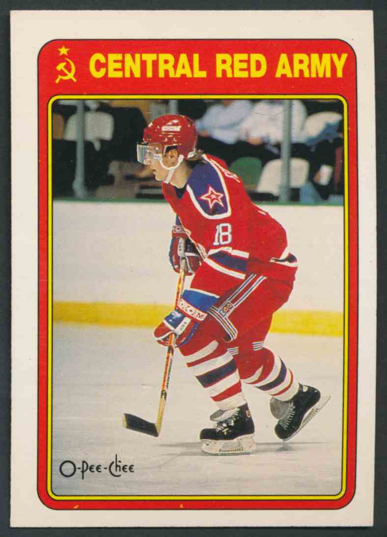 1990-91 O-Pee-Chee Sergei Fedorov #19R card front image