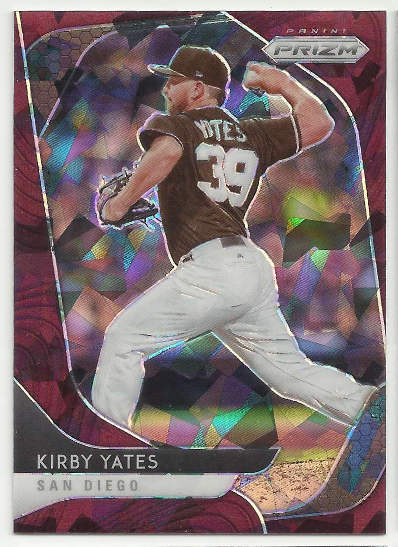2020 Panini Prizm Prizms Burgundy Cracked Ice Kirby Yates #21 card front image