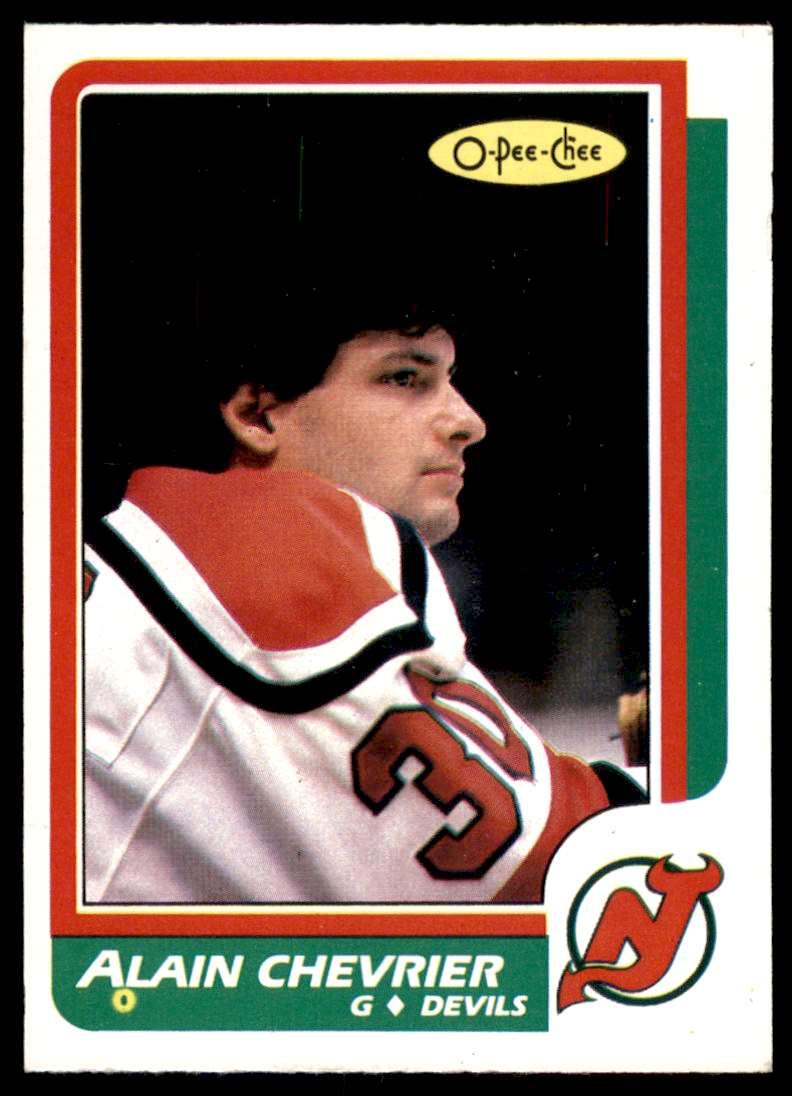 1986-87 OPC Alain Chevrier #225 card front image