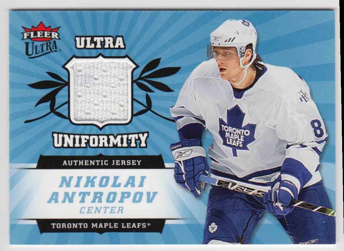 2006-07 Ultra Uniformity Jersey Nikolai Antropov #U-NA card front image