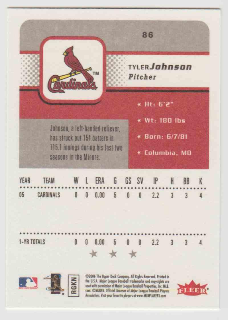 2006 Fleer Tyler Johnson #86 on Kronozio