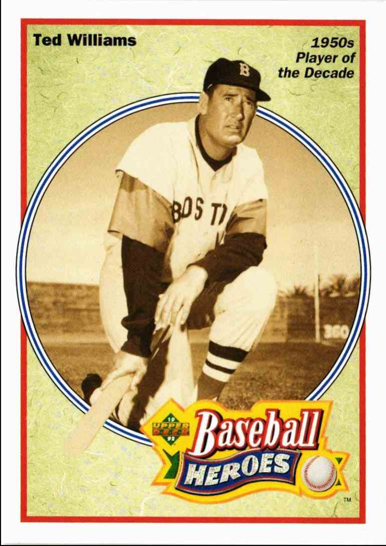 1992 Upper Deck Baseball Heroes Ted Williams Ted Williams