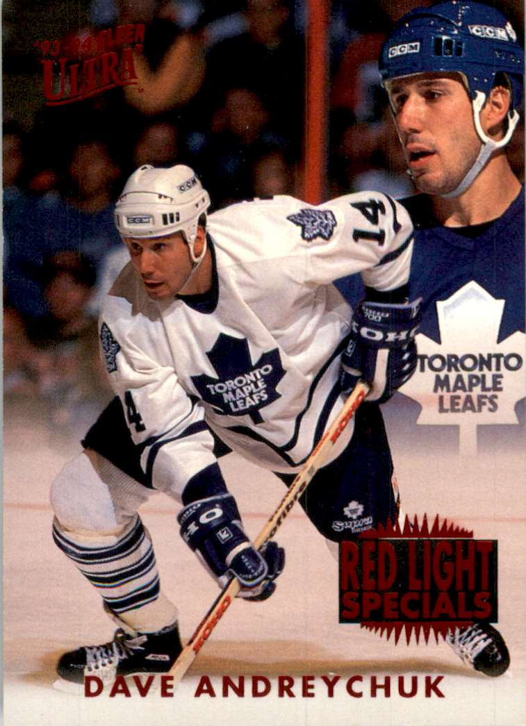 1993-94 Ultra Red Light Specials Dave Andreychuk #1 card front image