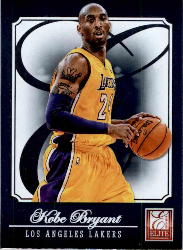 2012-13 Panini Elite Kobe Bryant #1 card front image