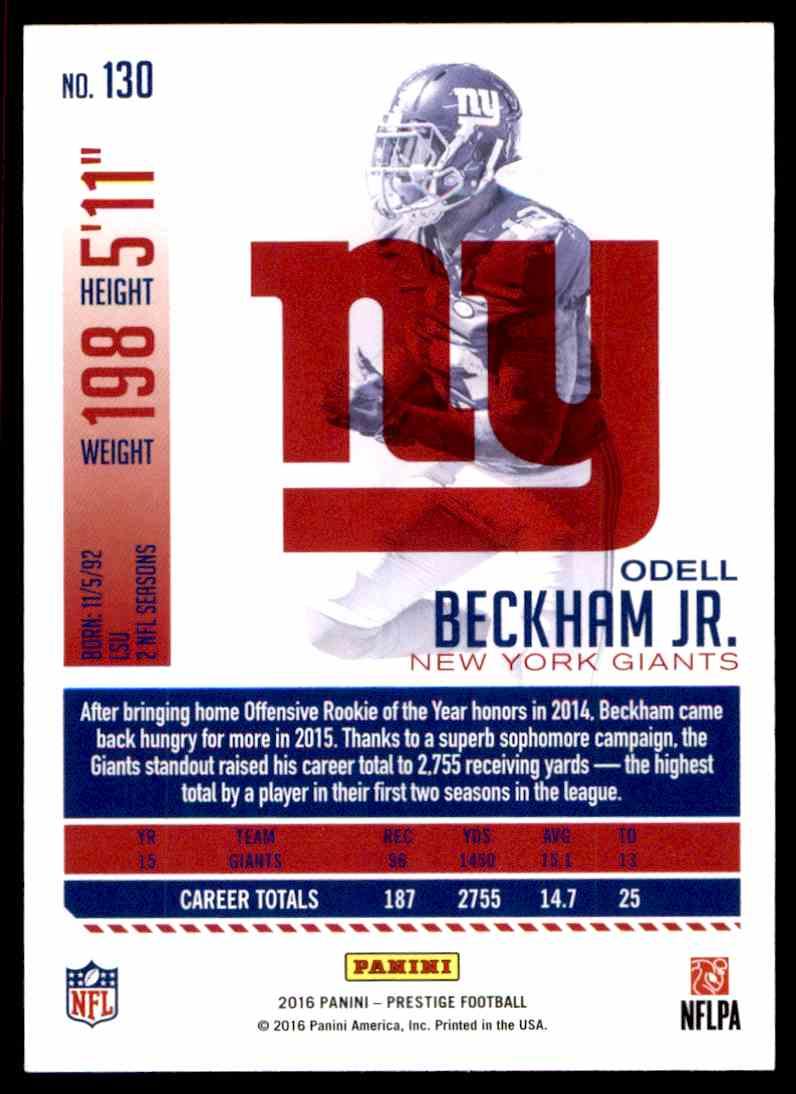 2016 Prestige Xtra Points Green Odell Beckham JR  #130 on